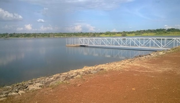 Earth dam constructed by the Ministry