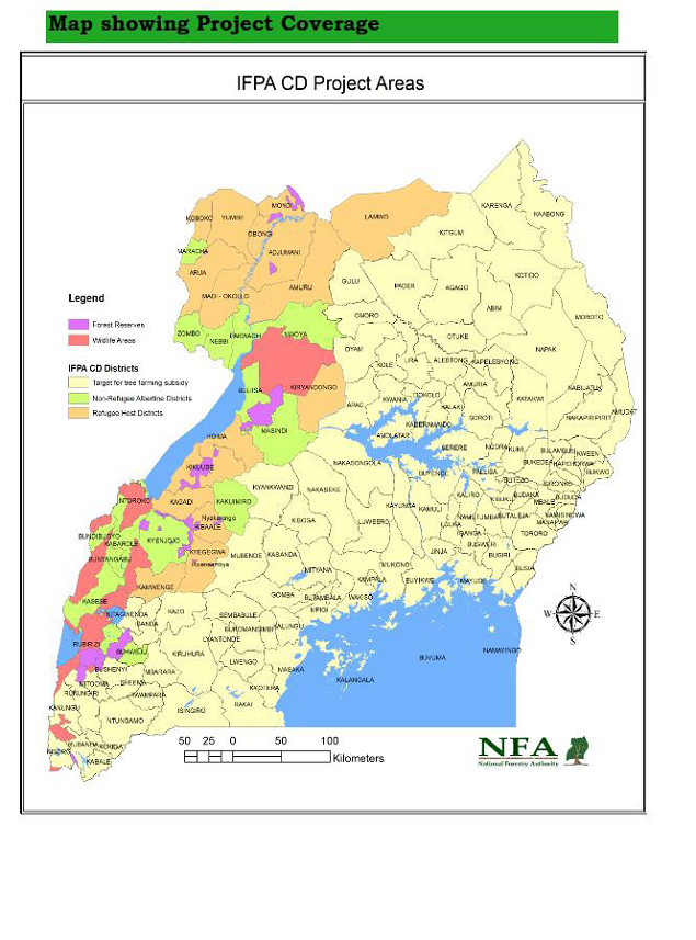National Project coverage map