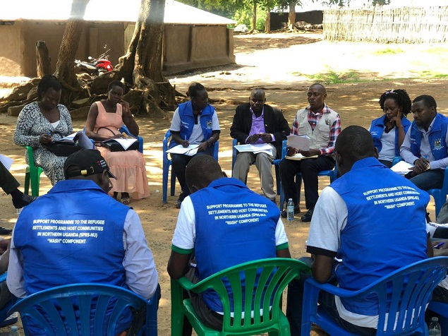 Inspection of the progress of works and site meetings at Alere and Nyumanzi Refugee settlement Water Supply Systems in Adjumani District