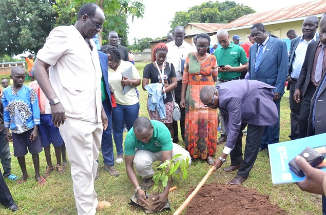 National Greening campaign and Launched tree planting in schools & Tertiary Institutions at Ngetta Girls Primary School in Lira District.